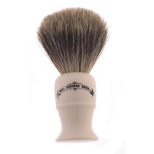 Colonel Conk Model 850 Deluxe Pure Badger Shaving Brush Lathe Turned Cream Handle