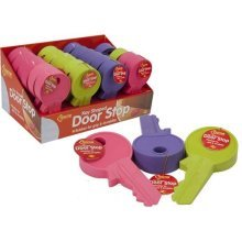 Brand New Hard Quality Durable Rubber Key Shaped Door Stop -  door rubber key wedge coloured shape stop wedges stoppers stops home office