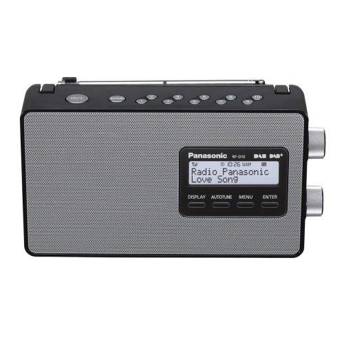 Panasonic RF-D10EB-K Portable DAB+ /DAB/ FM Radio - AC/DC with 10Cm Speaker For Clear Sound.