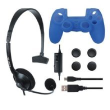 ORB All-in-One Accessory Starter Pack PS4 - Headset Silicone Skin Charge Cable