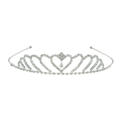 Beistle 60078 Royal Rhinestone Tiara, White - Pack of 6