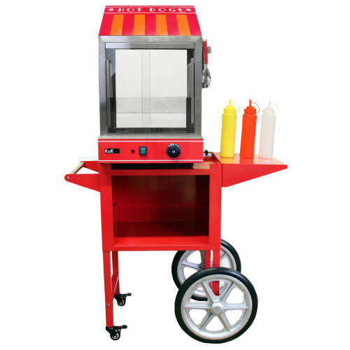 KuKoo Commercial Hot Dog Steamer & Cart