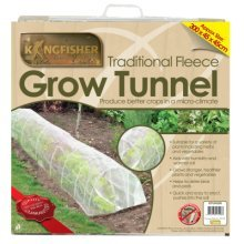 Fleece Plant Growing Tunnel -  tunnel grow fleece 3m cloche plant protection garden mini greenhouse frost allotment veg plants propagator