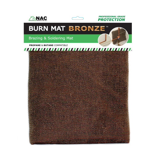 Heat Resistant Brazing and Soldering Plumbers BURN MAT BRONZE