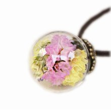 Beautiful Dried Flower Pendant Necklace Sweater Ornaments