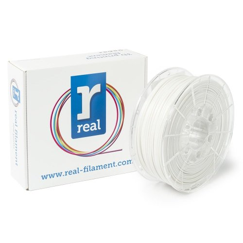 Real Filament 8719128327662 Real PETG, Spool of 1 kg, 2.85 mm, Opaque White
