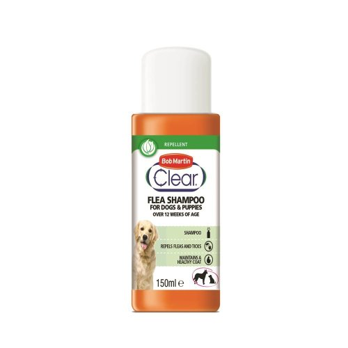 Bob Martin Clear Flea Repellent Shampoo for Dogs and Puppies