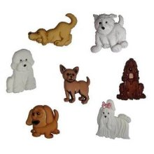 Puppy Parade - Novelty Craft Buttons & Embellishments by Dress It Up