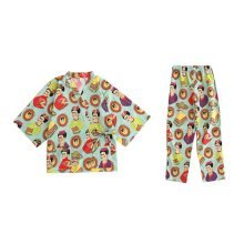 Japanese-style Pajamas Women's Autumn&Winter Cotton Kimono Pajamas Bathrobe