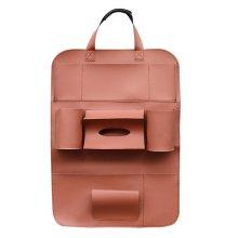 Pu Leather Car Seat Storage Bag 5 Colors Travel Solid Hang Bag
