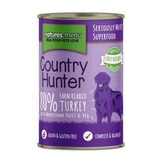 Country Hunter Dog Food Can Farm Reared Turkey (6 x 400g)