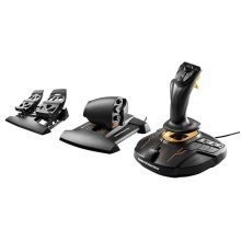 Thrustmaster T.16000M FCS Flight Pack Includes Joystick Throttle and Rudder Pedals PC