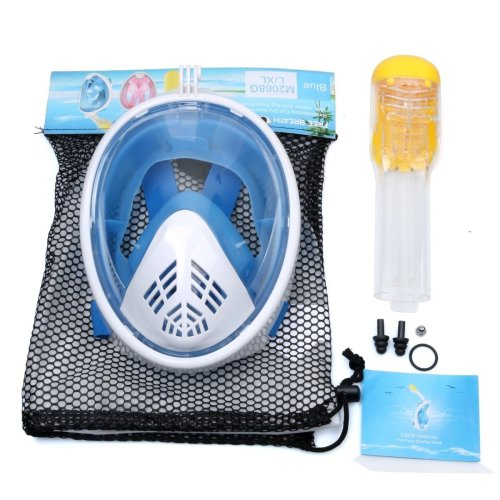 Snorkel Mask 180¡ãview Snorkelling Mask with Panoramic Full Face Design Diving Mask SM
