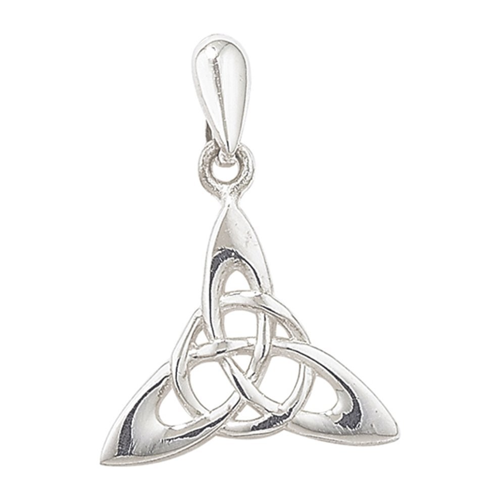 Sterling silver triquetra pendant on a snake necklace on onbuy sterling silver triquetra pendant on a snake necklace mozeypictures Image collections
