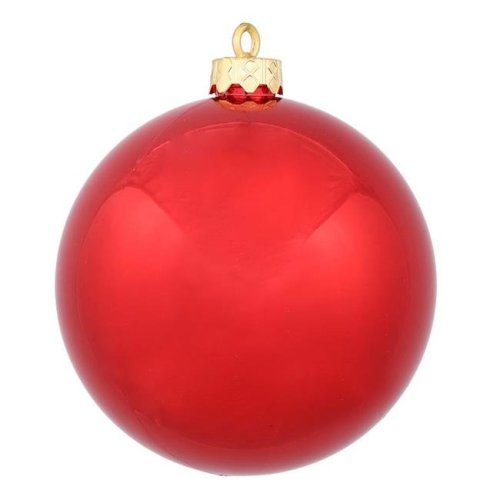 Vickerman N151036DSV Lavender Shiny UV Drilled Finial Ornament - 8 in. - 6 per Bag