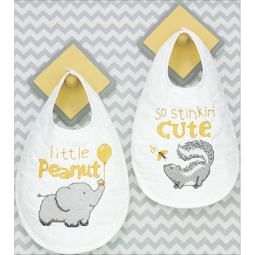 Dimensions Counted X Stitch -Bibs: Stinking Cute