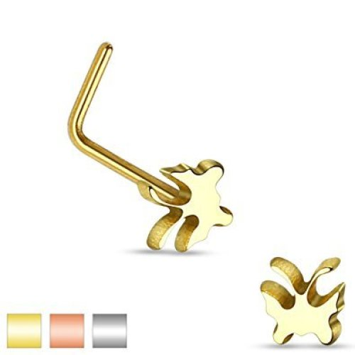 Butterfly Animal Nose Stud L Bend