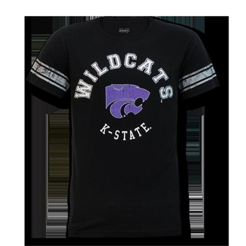 W Republic Mens Football Tee K-State, Black - Small