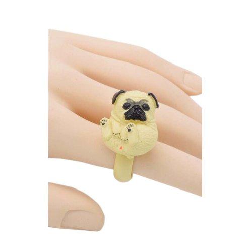 Fashion Handmade Resin Simulation Puppy Ring