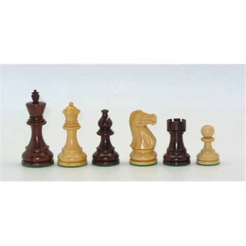 Checkmate 37RC Rosewood & Boxwood Classic Chessmen Set