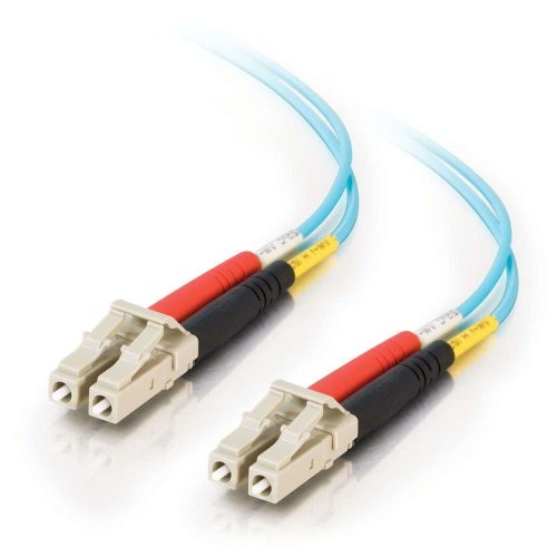 C2G 5m LC-LC 10Gb 50/125 OM3 Duplex Multimode PVC Fibre Optic Cable (LSZH) - Aqua