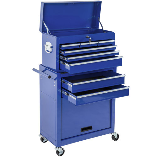 Tool chest with 8 drawers blue