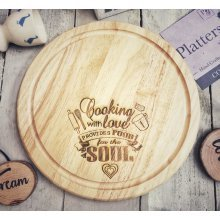 Cooking With Love | Wooden Chopping Board - 25cm