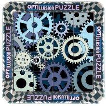 3d Magna Optillusion Cogs Mini Magnetic Jigsaw Puzzle (16 Pieces)