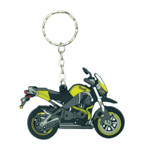 Buell XB12X rubber key ring motor bike cycle gift keyring chain yellow