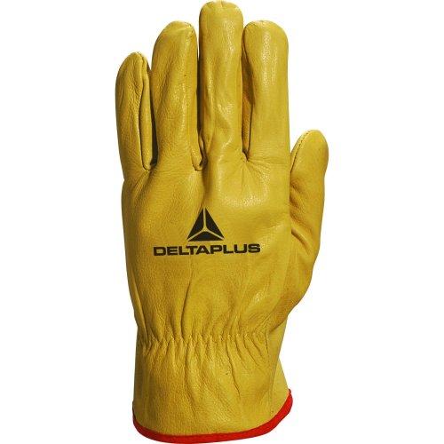 Delta Plus Venitex FBJA49 Yellow Full Grain Leather Quality Safety Work Gloves