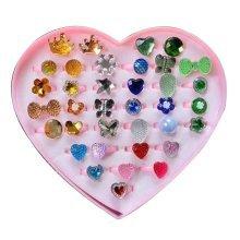 Shiny Plastic Girls Toys Rings, Princess Dress Up [E]