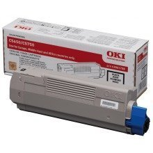 Black Genuine Original OKI Toner Cartridge C5650 / C5750 p/n 43865708