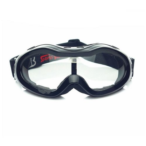 Black Goggles Ski/Skating/Snowboard Goggles for Kids Clear Lens