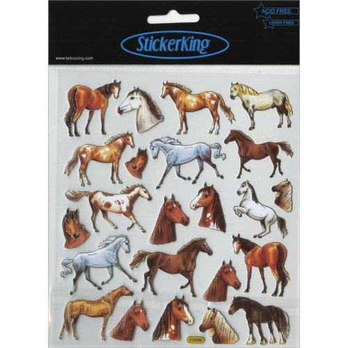 Multicolored Stickers-Wild Horses