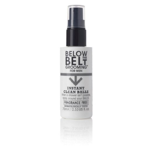 Below The Belt Instant Clean Balls Fragrance Free Spray 75ml