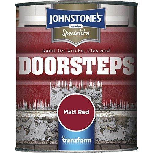 Johnstone's Paint for Bricks, Tiles and Doorsteps - Matt Rad - 750ml