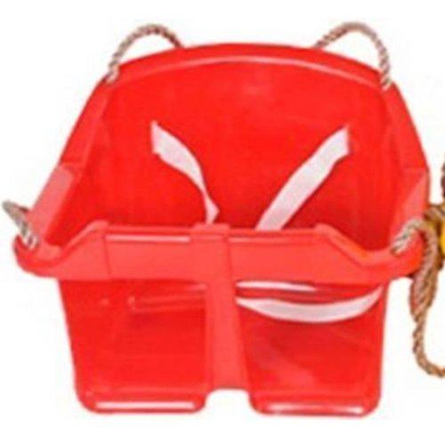 Childrens Rope Swing Kids Toddler Adjustable Outdoor Garden Bucket Safety Seat[Red]