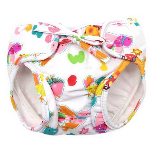 Baby Swim Trunks 0-3 Infants Cute Swimsuit Leakproof Swim Shorts, Colorful Birds