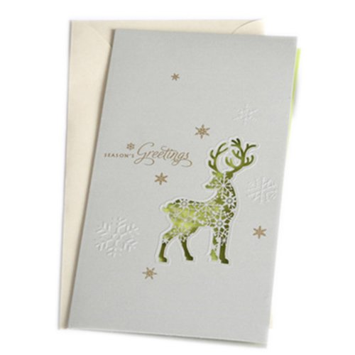 Christmas Cards Greeting Cards Christmas Gift Xmas Cards (4 Cards and Envelopes), White # 27