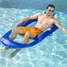 SwimWays Quality Spring Float Recliner, Luxury Inflatable Pool Lounger / Lilo / Air Bed