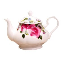 Creative Red Flowers Pattern Teapot for Tea Party