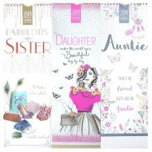 2019 Relation Slim Wall Calendar Sibling Daughter Auntie Aunt Sister Christmas Gift