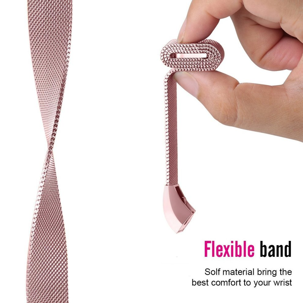 For Fitbit Alta Strap and Alta HR Metal Bands, Vancle Milanese Stainless  Steel Adjustable Replacement Accessory Straps for Fitbit Alta (HR)  Fitness