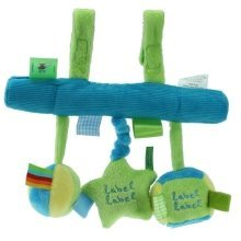Label Label Car Seat Toy / Blue & Green
