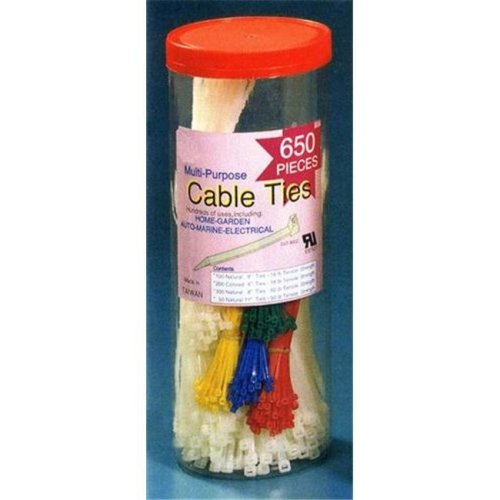 Morris Products 20302 650 Piece Canister Pack Nylon Cable Ties