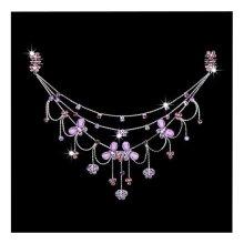 Princess Dress up Accessories Jewelry  Forehead Chain [Purple]