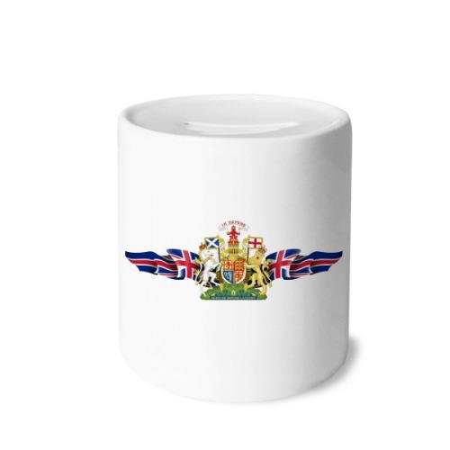 UK National Emblem Country Symbol Money Box Saving Banks Ceramic Coin Case Kids Adults