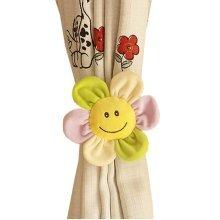 Curtains Rope Curtain Holder Tieback Holdback for Bedroom Living room (Flower) , 80cm