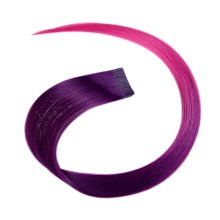 2 Pieces Of Fashionable Invisible Hair Extension Wig Piece, Deep Purple