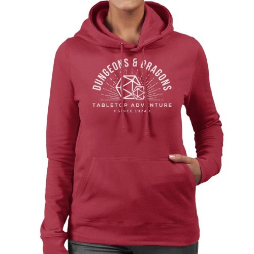 Dungeons And Dragons Adventures Since 1974 Women's Hooded Sweatshirt